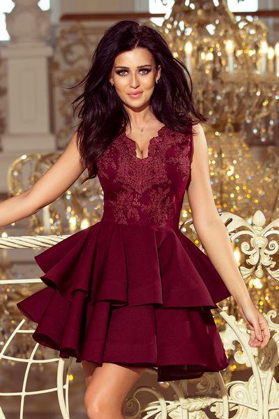 Bordové spoločenské šaty Kimberly