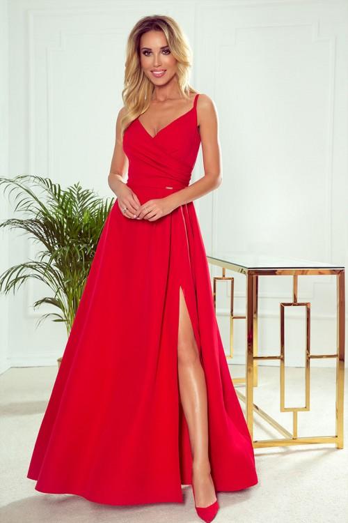 Červené spoločenské šaty Chiara