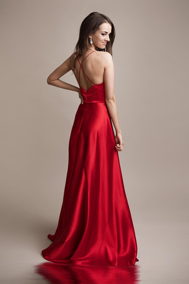 Červené spoločenské šaty Doriane