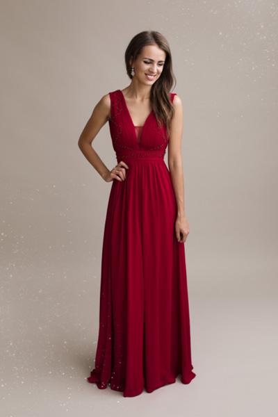 Červené spoločenské šaty Iris