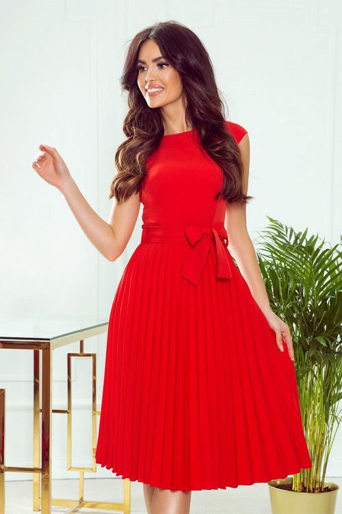 Červené spoločenské šaty Lila