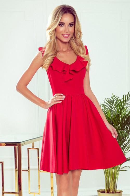 Červené spoločenské šaty Pola