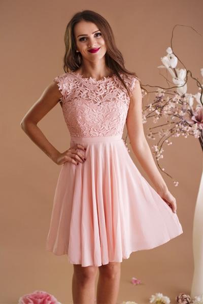 Ružové spoločenské šaty Maëlys