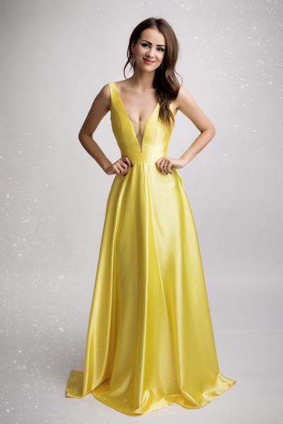 Žlté spoločenské šaty Suzanne