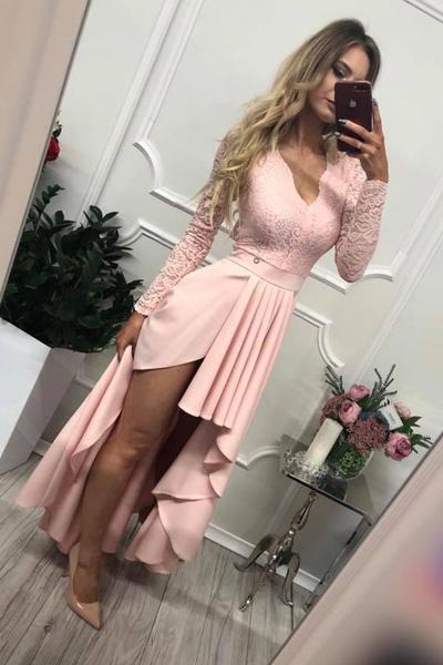 Ružové spoločenské šaty Loren