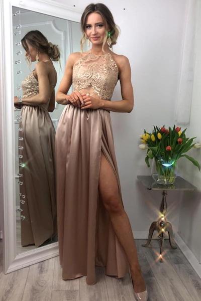 Zlaté spoločenské šaty Vivien