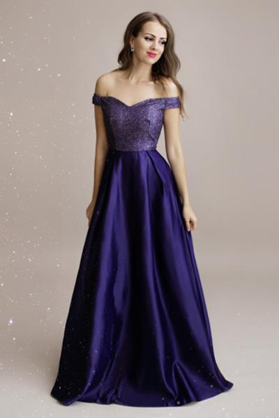 Modré spoločenské šaty Auréline