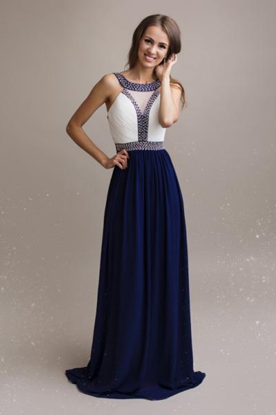 Modré spoločenské šaty Alice