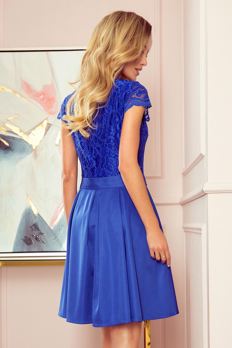Modré spoločenské šaty Anna
