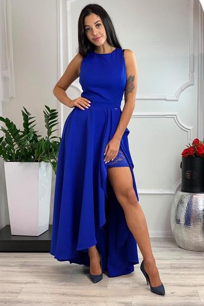 Modré spoločenské šaty Carolyn