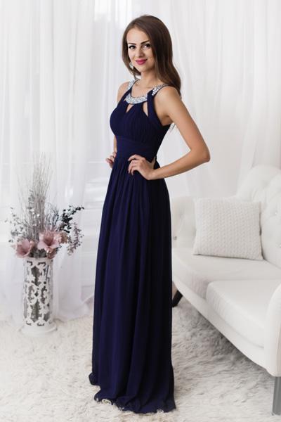 Tmavomodré spoločenské šaty Essie