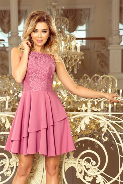 Fialové spoločenské šaty Xenia