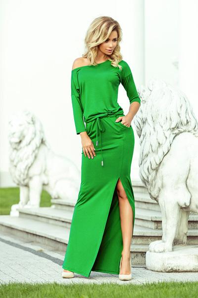 Dlhé šaty Stella zelená