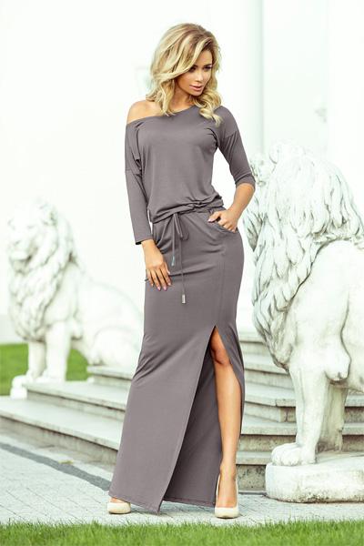 Dlhé šaty Stella sivá