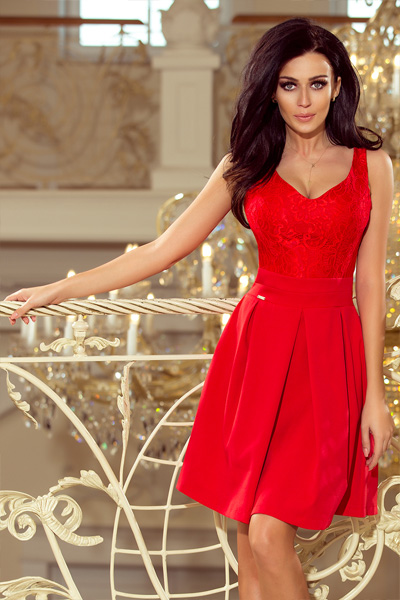 Červené spoločenské šaty Juliet