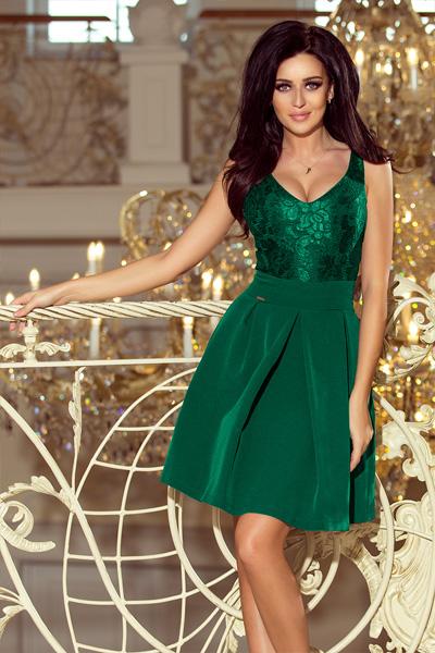 Zelené spoločenské šaty Juliet