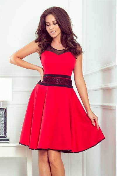 Červené spoločenské šaty Rica