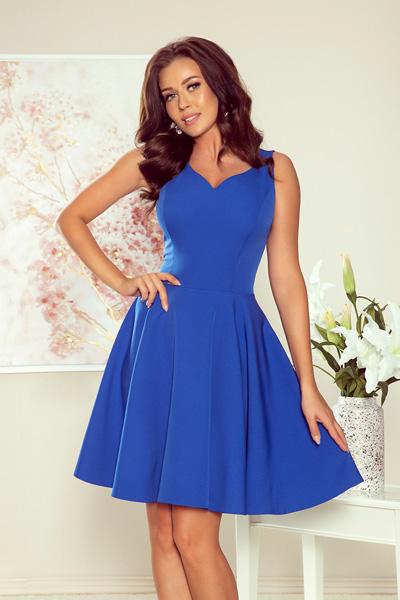 Modré spoločenské šaty Amelia