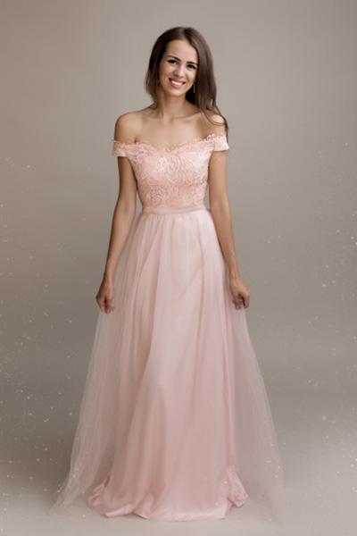 Ružové spoločenské šaty Agathe