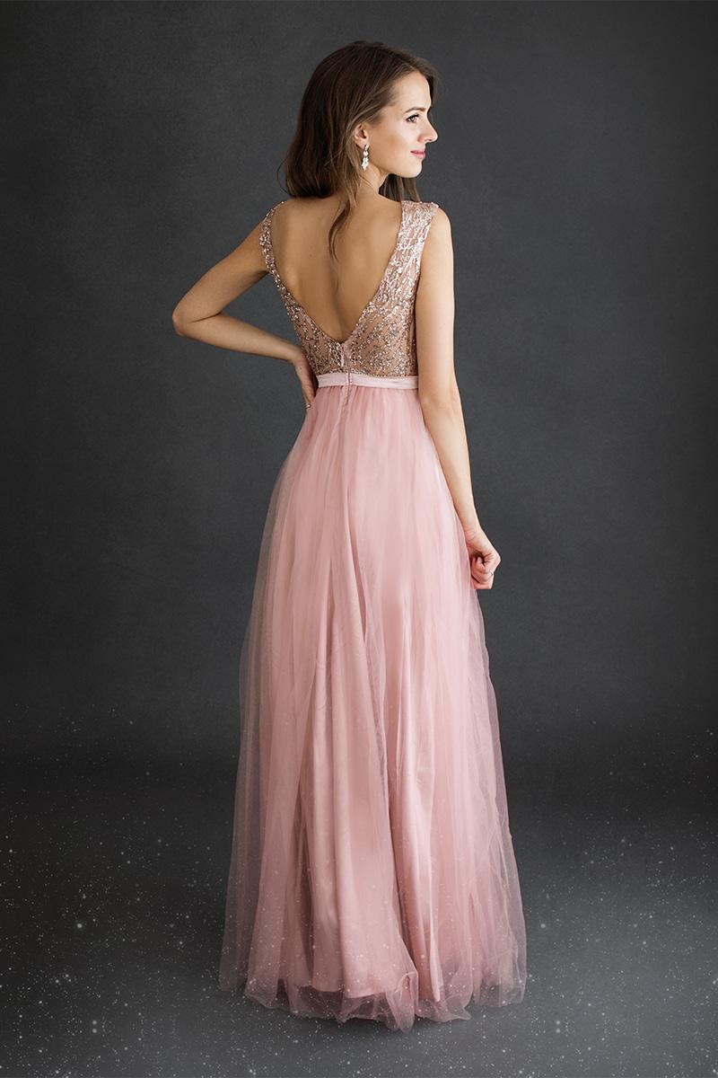 Ružové spoločenské šaty Ciara
