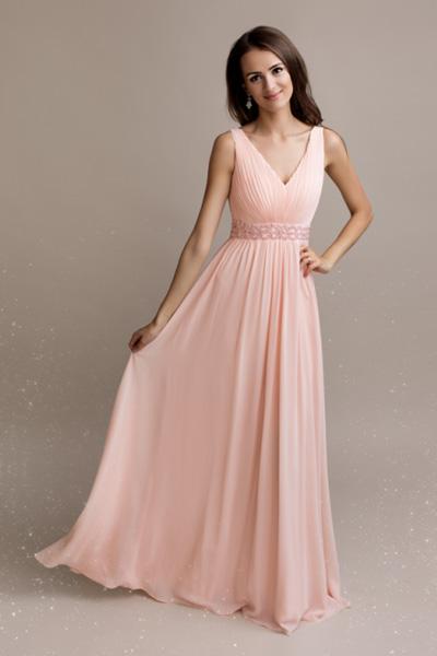 Ružové spoločenské šaty Melodie