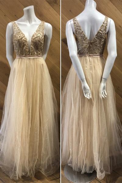 Zlaté spoločenské šaty Elsa